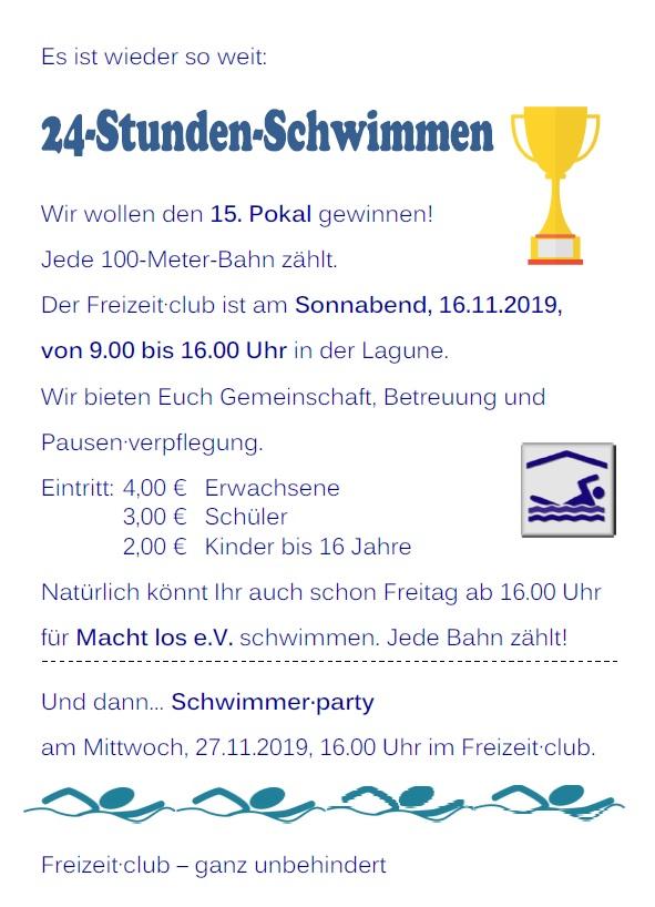 24-Stunden-Schwimmen 2019