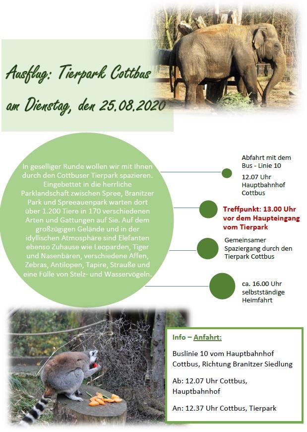 Flyer Ausflug Tierpark