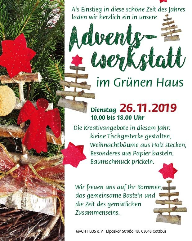 Flyer Adventswerkstatt 2019